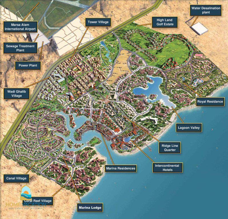 Buy Luxury Apartment In Marsa Alam Red Sea Egypt - Map of egypt marsa alam